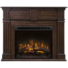 Russell Burnished Walnut Electric Fireplace thumb