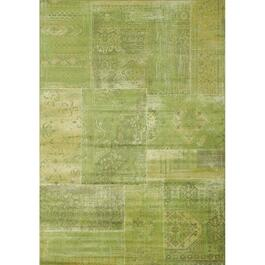 7' x 10' Antika Green Patchwork Area Rug thumb
