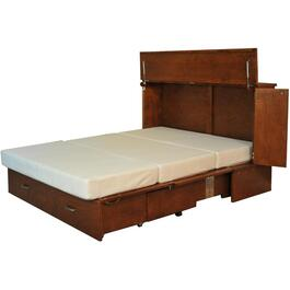 Cojoba Park Avenue Queen Cabinet Bed, with Gel Memory Mattress thumb