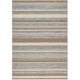 6' x 8' Trellis Grey/Brown/Beige Strips Flatweave Area Rug thumb