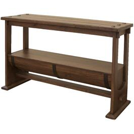 Bourbon Rectangular Sofa Table, with Wood Barrel bottom thumb