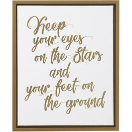 "17.5"" x 21.5"" Keep Your Eyes On the Stars Framed Plaque thumb"