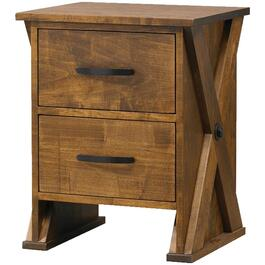 2 Drawer Pecan Ancaster Night Table thumb