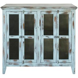 4 Door Antique Blue Console thumb