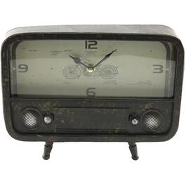 "10.5"" x 8"" Vintage Radio Mantle Clock thumb"