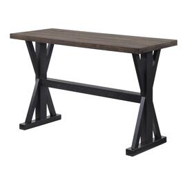 Aged Ebony Rectangular Sofa Table, with Xbase thumb