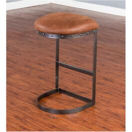 "2 Pack 30"" Tahoe Metal Bar Stool, with Brown Microfibre Seat thumb"