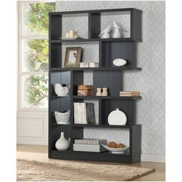 "5 Tier 47"" x 76"" Chocolate Brown Pearl Bookcase thumb"