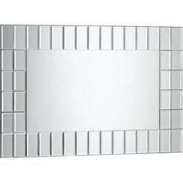 "24"" x 36"" Beveled Sorrento Tiles Wall Mirror, with Mirror Frame thumb"