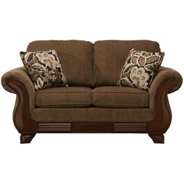 Khaki Brown Simplicity Loveseat thumb