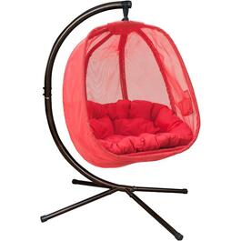 Red Sling Hanging Basket Chair thumb