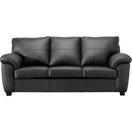 Black Madras Leather Match Sofa thumb