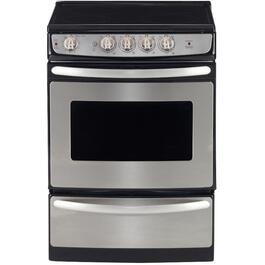 "24"" 3 cu. ft. Stainless Steel Slide-In Electric Range thumb"