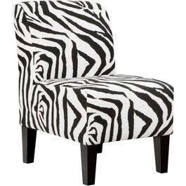 Zebra Armless Accent Chair thumb