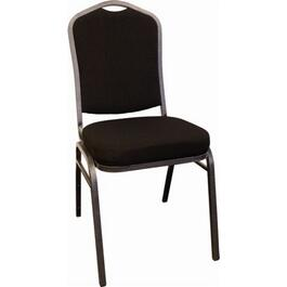 Black Fabric Stacking Chair thumb