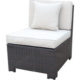 Provence Armless Wicker Sectional Chair, with Cushion thumb