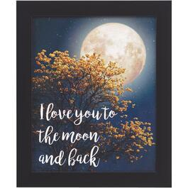 "20"" x 24"" I Love You To The Moon And Back Framed Plaque thumb"