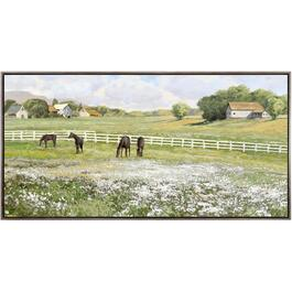 "32"" x 62"" A Day In The Paddock Wall Plaque thumb"