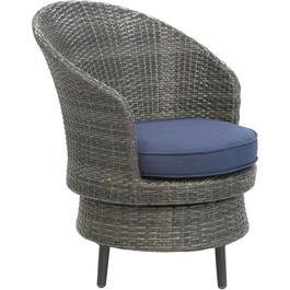 Athens Wicker Swivel Club Chair, with Cushion thumb