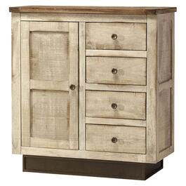 4 Drawer, 1 Door White Kahlo Console thumb