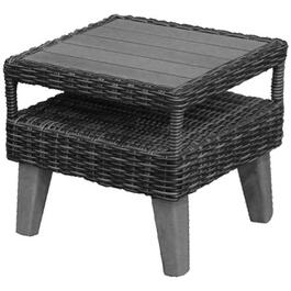 "17.5"" x 17.5"" Seville Slatted Wood Side Table thumb"