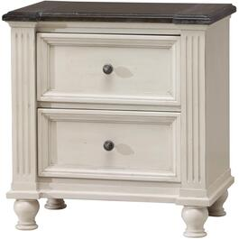 2 Drawer White Carriage House Night Table thumb