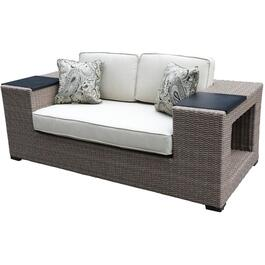 Tuscany Wicker Loveseat, with Cushion thumb