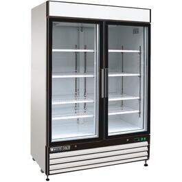 48 cu. ft. Stainless Steel/Clear 2 Door Commercial Grade Fridge thumb