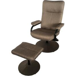 Palace Sandy Beige Swivel Recliner, with Ottoman thumb