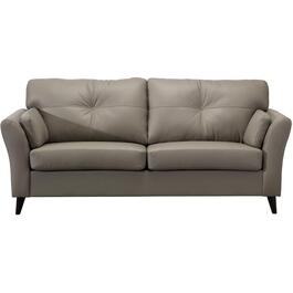 Light Grey Leather Match Sofa thumb
