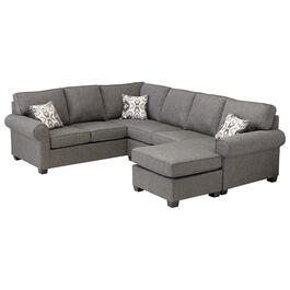 2 Piece Tweed Hanson Sofa Sectional thumb