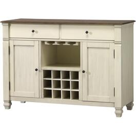2 Drawer, 2 Door Nesbitt Server, with Wine Rack thumb