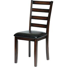 Mayfair Espresso Wood Side Chair, with Upholstered Seat thumb