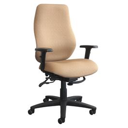 Navy Upholstered Mid Back Office Chair thumb