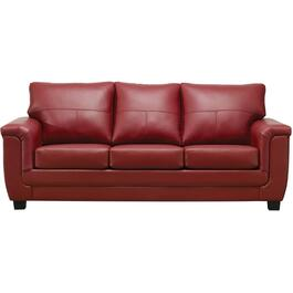 Madras Crimson Leather Match Sofa thumb