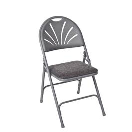 Taupe Padded Folding Chair thumb