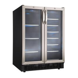 Black with Stainless Steel Wine/Beverage Cooler, with Twin Doors thumb