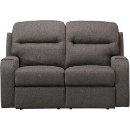 Charcoal Peppercorn Force Power Recliner Loveseat thumb