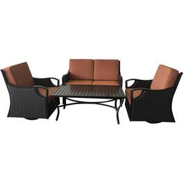 4 Piece Regal Wicker Conversation Set thumb