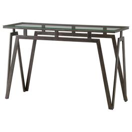 Taupe Metal Rectangular Sofa Table thumb