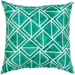 "16"" Square Green Geo Tile Throw Pillow thumb"