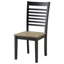 South Beach Ebony and Ash Wood Side Chair thumb