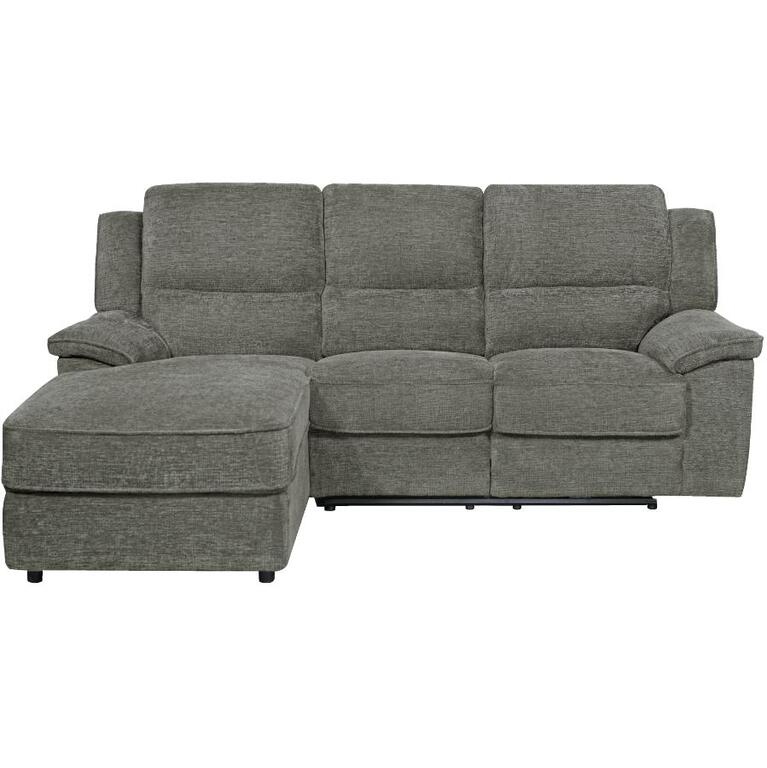 PRIME RESOURCES INTERNATIONAL Briley Pewter Power Recliner Sofa