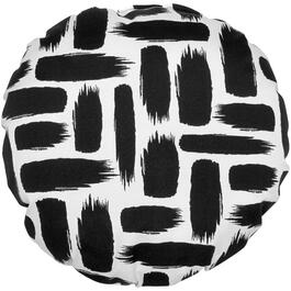 "16"" Round Black and White Stone Throw Pillow thumb"