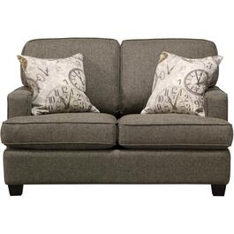 Grande Pewter Loveseat thumb