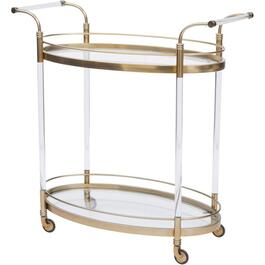 Gold Acrylic Bar Cart thumb