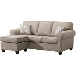 Brown Byron Sofa, with Ottoman thumb