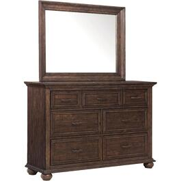 7 Drawer Dark Brown Chatham Park Dresser thumb