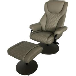 Finesse Grey Swivel Recliner, with Ottoman thumb