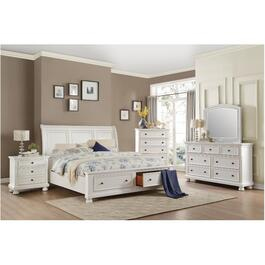 3 Drawer White Laurelin Night Table thumb
